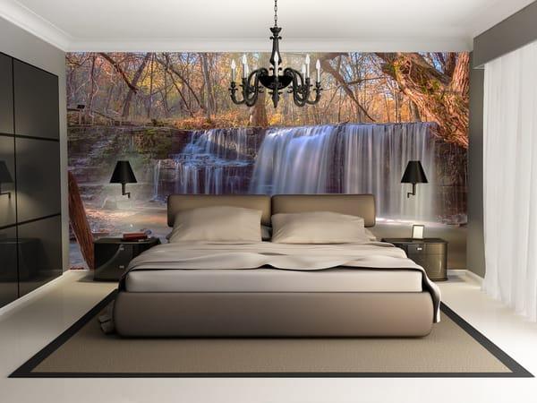 Hidden Falls in Autumn - Minnesota Wall Murals