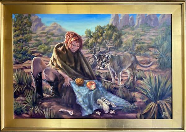 Picnic With A Cougar Art | Ans Taylor Art