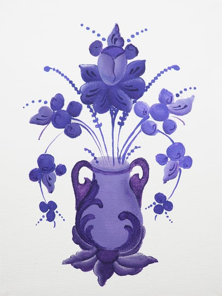 Purple Flowers And Vase Photography Art | Fox and Swan Arts