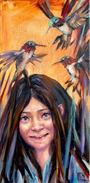 Little Sister   Little Bird Series Art by anstaylor
