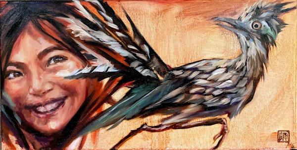 Roadrunner   Little Bird Series Art | Ans Taylor Art