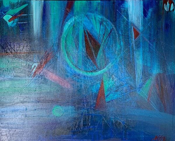 Azul Infinito Ii Art | Ralwins Art Gallery