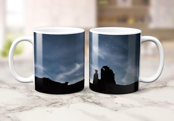 Sublimation Printed 11oz Mug of Arches Wispy Night Skies