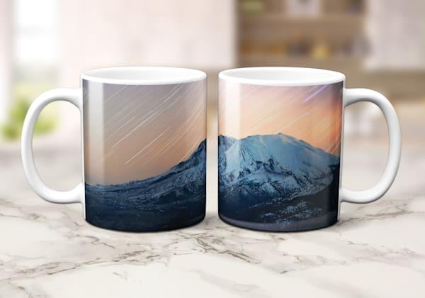 11oz Mug Sublimated with Golden Star Trails Mt St Helens