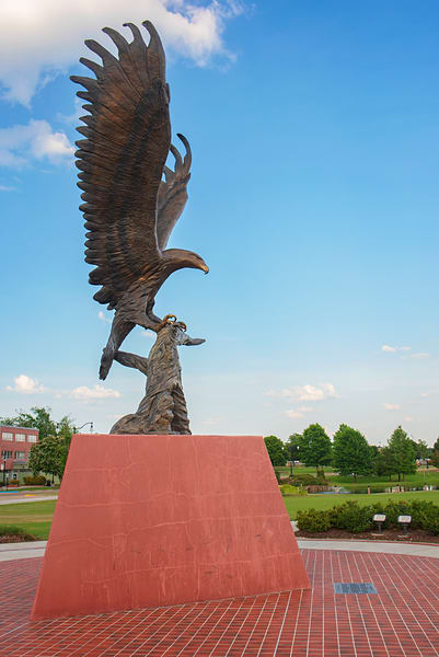 University of Southern Mississippi Golden Eagle statue