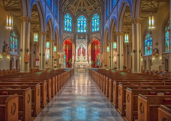 St Louis Cathedral's nave