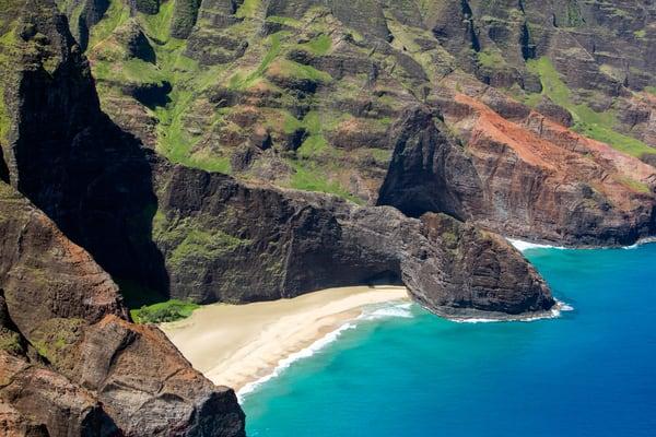 Nā PALI, COAST, mountains, ocean, dragon, Kauai