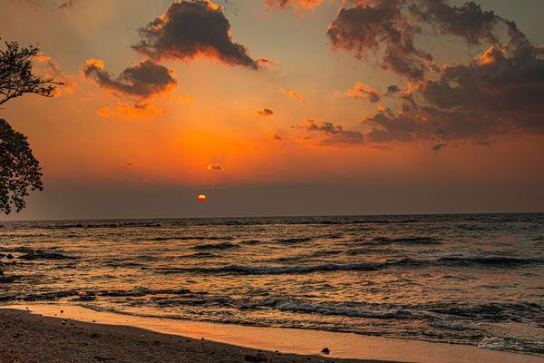 SUNSET,  Hawaii, beach ,ocean