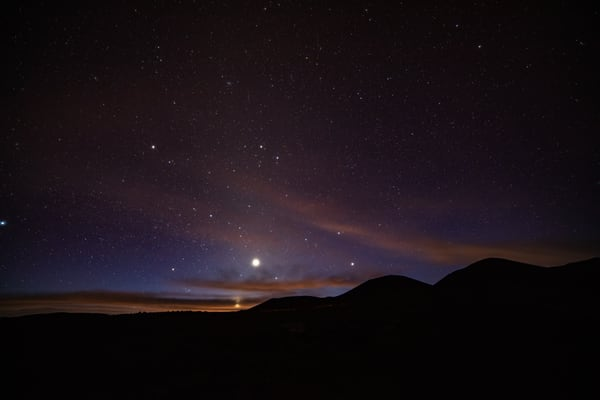GALAXIES, night, stars, Hawaii, moon