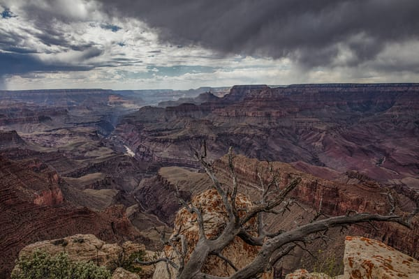 Grand canyon, rain, showers, Colorado river