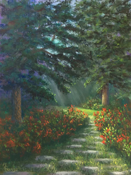Glowing Garden Path Art | Mark Grasso Fine Art