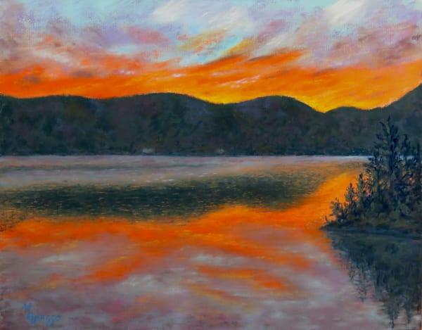 Glowing Lakeside Sunset Art | Mark Grasso Fine Art