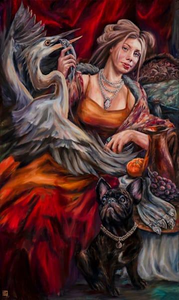 Baroque Baroness   The Heiress' Heron Art | Ans Taylor Art