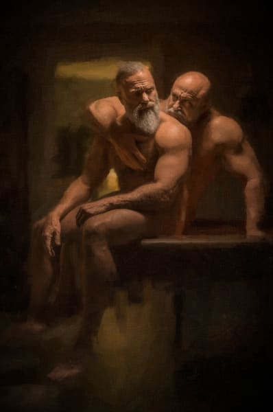 Brian Holding Keith Safe, Men of a certain age, Ben Fink art prints, photo