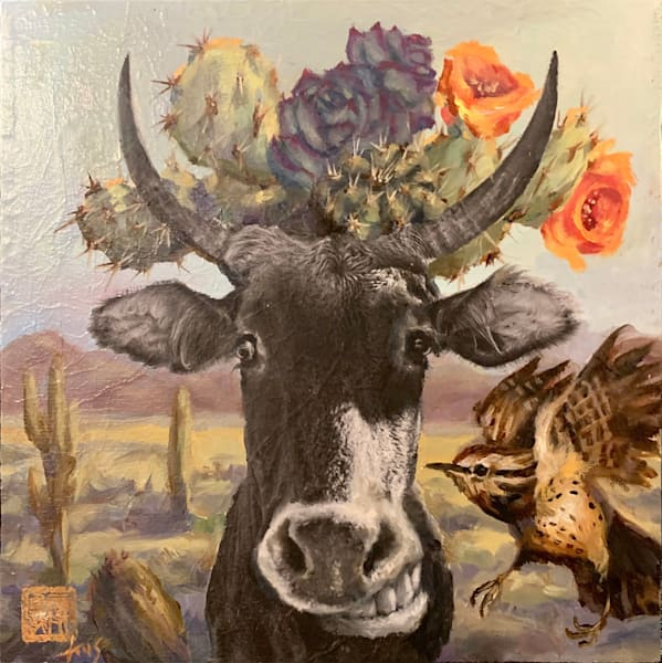 Cactus Queen Cow   The Expo Cow Project! Art | Ans Taylor Art