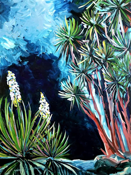 Blue Moon Rising Art | Janak Narayan Fine Art