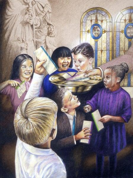 Children Giving Art | James Loveless Art