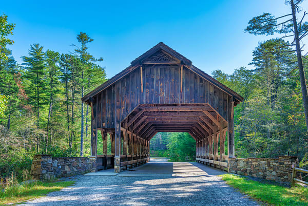 Covered bridge photograph from Dupont State Forest