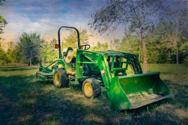John Deere At Sunset   Digitally Painted Photograph Photography Art | Beth Sheridan, Grace Fine Art Photography
