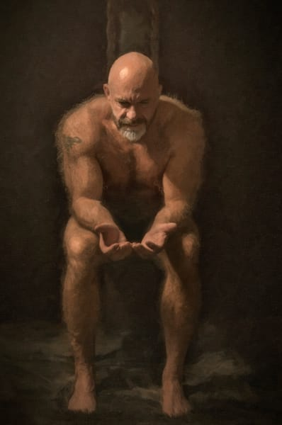 Seated Christopher, Men of a certain age, Ben Fink art prints, photo