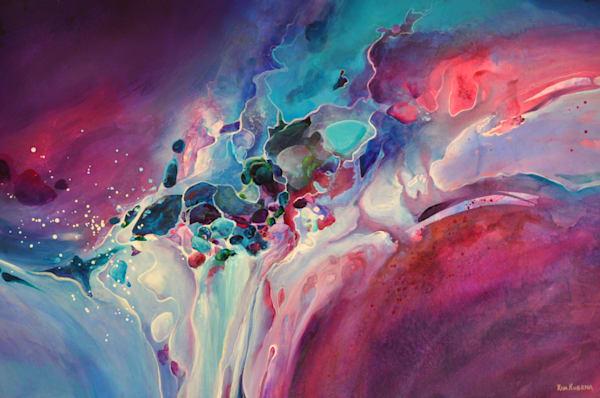 Waterfall Abstract Art | House of Fey Art