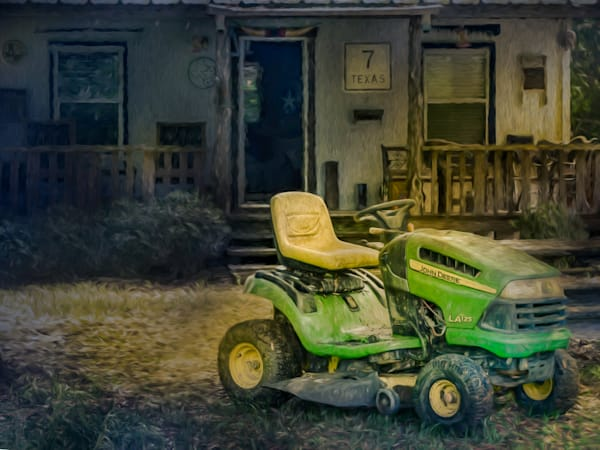 John Deere Riding Mower At Sunset   Digitally Painted Photograph Photography Art | Beth Sheridan, Grace Fine Art Photography