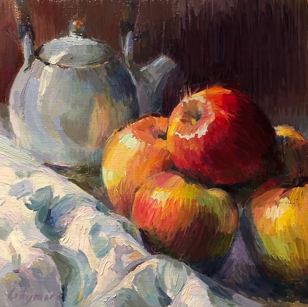 Apples And Green Tea Art | Fountainhead Gallery