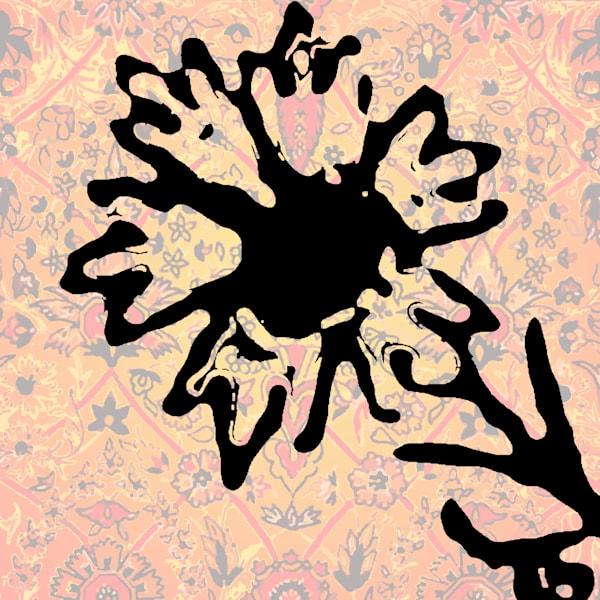 Shah Abbasi Rug Flower Art | Elena Lipkowski Fine Arts, LLC