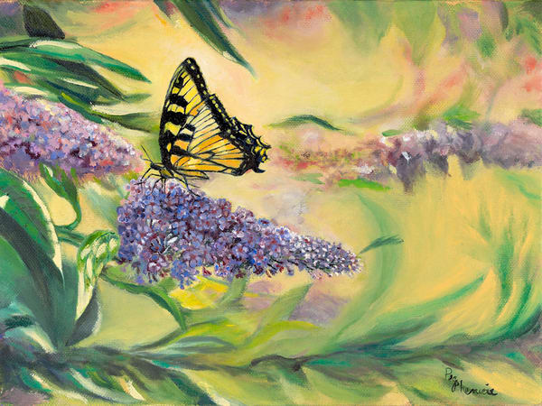 Butterfly Too, From an Original Oil Painting
