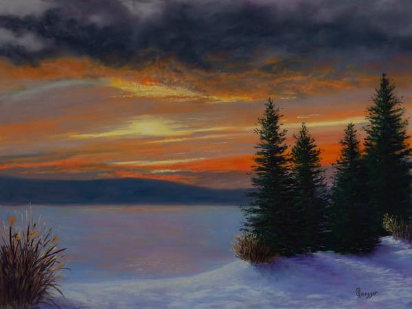 Frozen Sunrise Art | Mark Grasso Fine Art