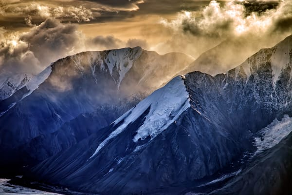 Golden Light on the Alaska Range | Shop Photography by Rick Berk