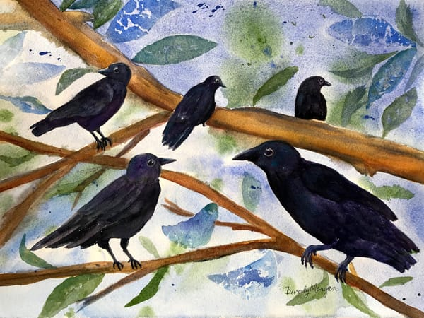 Birds Of A Feather, From an Original Watercolor Painting