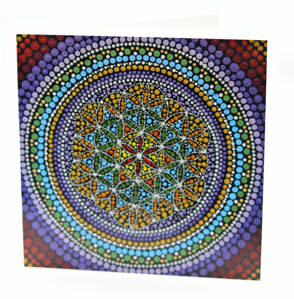 Fine Art Note Card with Envelope Flower of Life