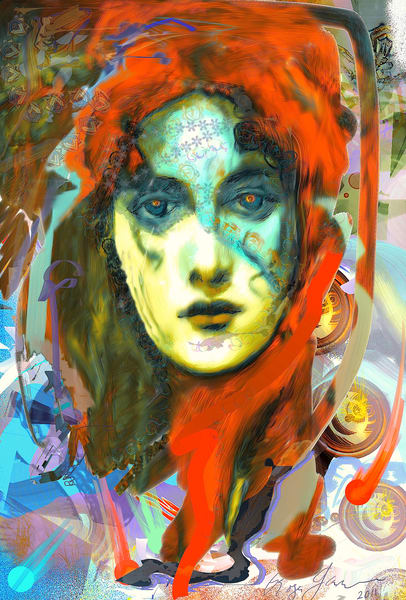 Girl In Red Art   L3 Art Decor
