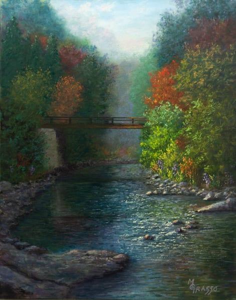 Sun Kissed Autumn Stream Art | Mark Grasso Fine Art