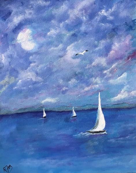 Full Moon Sailing Art | House of Fey Art