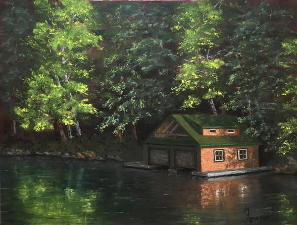 Tranquil Saranac Morning Art | Mark Grasso Fine Art