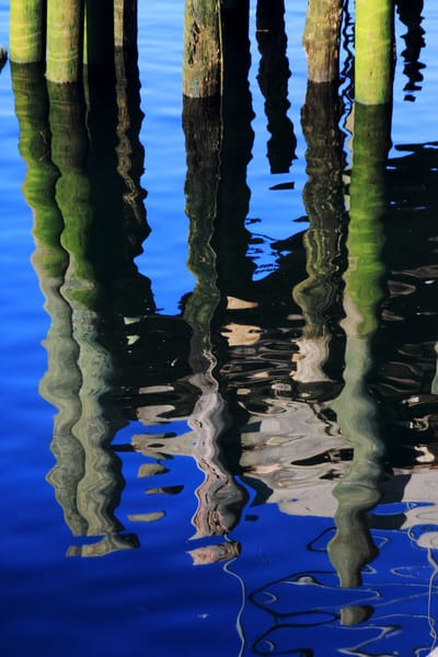 Glossy Blue Reflection Art by capeanngiclee