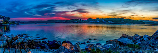 Sunset Pano Of Corliss Landing Art | capeanngiclee