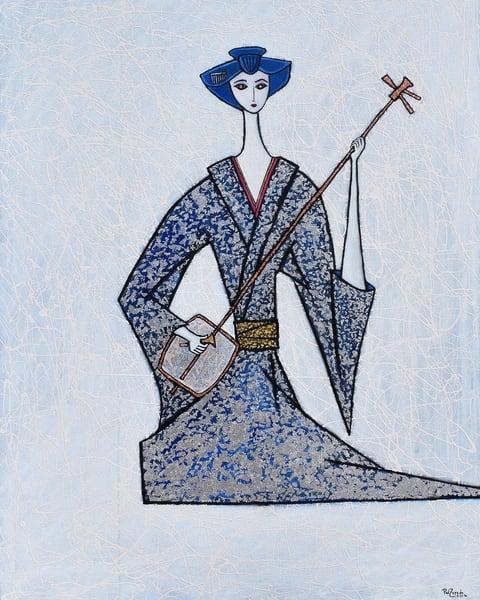 Maiko Geisha With Shamisan Art | Wet Paint NYC