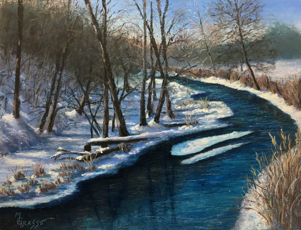Winter Stream Art | Mark Grasso Fine Art