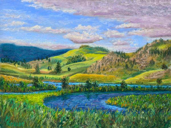 Quiet Morning In Hayden Valley Art | Mark Grasso Fine Art