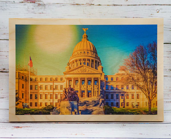 Jackson Capital Wood Print | draphotography