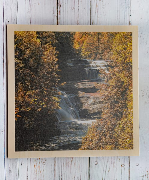 Triple Falls Wood Print | draphotography
