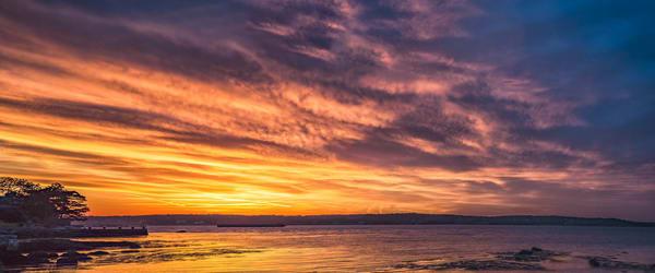 Niles Panoramic Sunset  Art   capeanngiclee