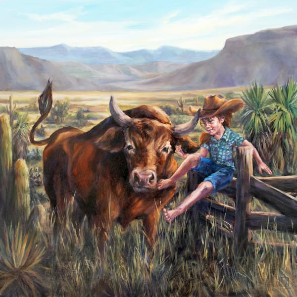 Rodeoed Out, unique and whimsical art and fine art prints of the West by Ans Taylor.