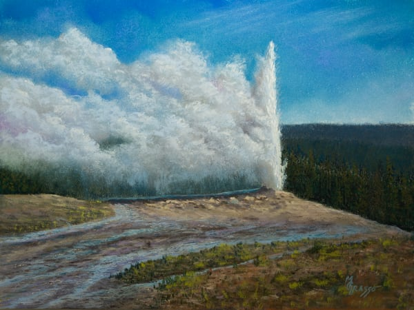 A Windy Day With Old Faithful Art | Mark Grasso Fine Art