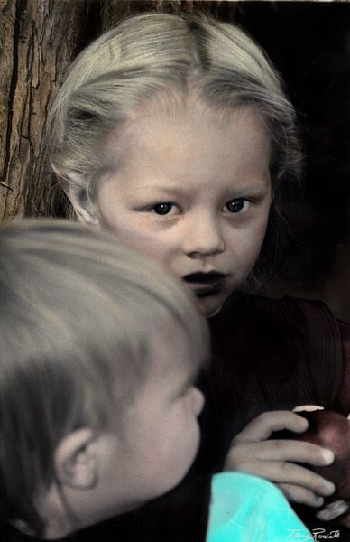 The Look - Portrait of Amish Children by Terry Rosiak