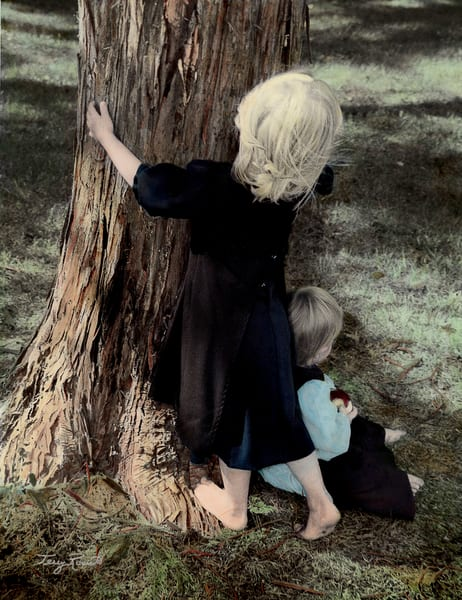 Amish Children as Tree Huggers by Terry Rosiak