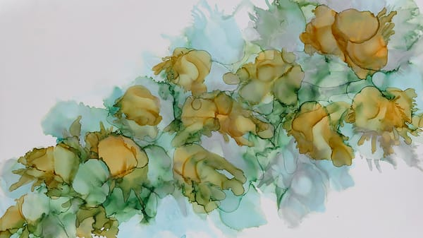 Autumn Bouquet created with Alcohol Inks by Terry Rosiak